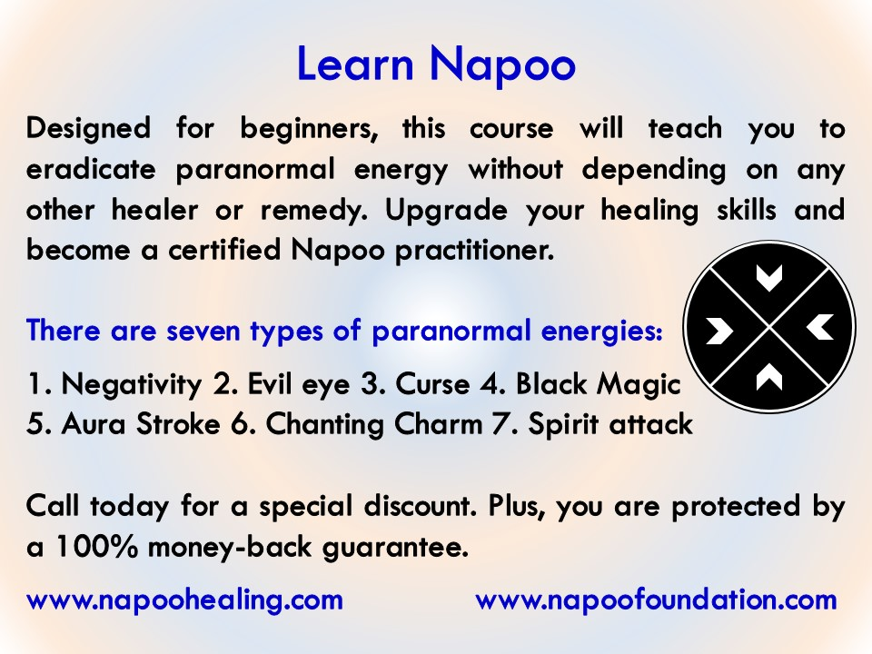 Napoo healing course : www.napoohealing.com